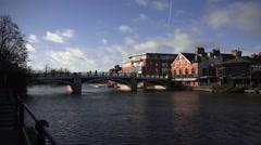 Windsors and Eton Bridge England Stock Footage