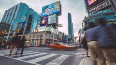 Toronto Yonge Dundas Intersection Timelapse Wide Stock Footage