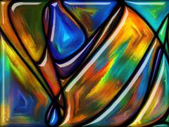 Advance of Glass - stock illustration