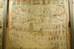 Art Thai, Mural mythology buddhist religion Stock Photos