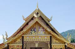 """Stock Photo of the rooftop of Buddhist temple at """"Wat Sri Pho Chai Sang Pha"""""""