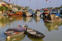 Boats in Hoi Ann, Vietnam - stock photo