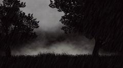 Dark, stormy night animation Stock Footage