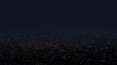 4K Huge Flat Suburban Area at Night Aerial View 2 Stock Footage