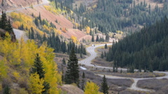 Million dollar highway Colorado - stock footage