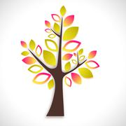 Abstract tree on white background - summer version Stock Illustration