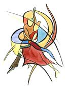 Abstract dance Stock Illustration