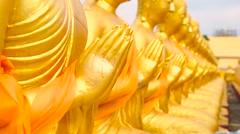 Buddha Phuttha Utthayan Makha Bucha Anusorn, Nakhon nayok, Thailand Stock Footage