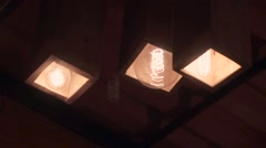 Variety ceiling light Stock Footage