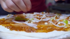 Cooking Pizza Closeup Stock Footage