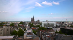 Panoramic view over Cologne Stock Footage