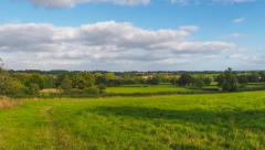 Stock Video Footage of England countryside panorama in Tanworth in Arden, UK