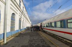 VLADIMIR, RUSSIA -05.11.2015. High-speed train Strizh at  railway station - stock photo