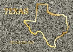 Texas in Stone Stock Illustration