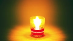 Time lapse candle light rewinding Stock Footage