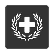 Stock Illustration of Medical Glory Flat Button