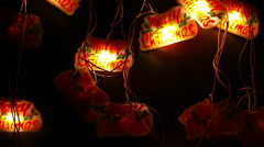 Christmas and new year decoration. blinking garland. - stock footage