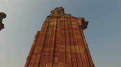 Architecture at the Qutb Minar complex - India Stock Footage
