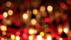Bokeh lights abstract background candles Stock Footage