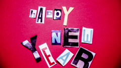 stop motion and animation lettering alphabet of Happy New Year celebration - stock footage
