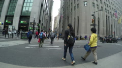 Entrance to Wall Street in NYC Stock Footage