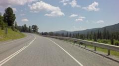 Travel on Chuysky Trakt through pass Seminsky Stock Footage