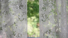 Blowing lace curtains Stock Footage