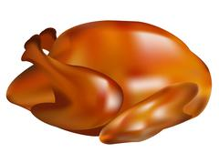 Stock Illustration of Thanksgiving turkey fried