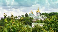 Temple of Kiev-Pechersk Lavra - stock photo