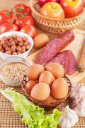 Ingredients for breakfast Stock Photos