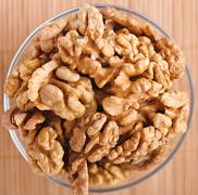 Peeled walnuts Stock Photos