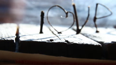 LOVE or Happy Valentines day idea - stock footage