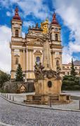 Stock Photo of Church of Annunciation and Marian plague column