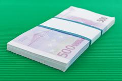 Bundle of 500 Euro banknotes Stock Photos