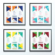 Set Bright modern abstract banner design 4 in 1 - stock illustration