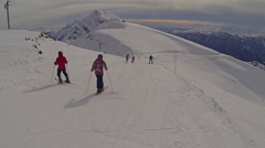 Sochi, downhill skiing. February 2015 Stock Footage