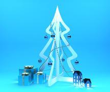 Christmas decoration set - stock illustration