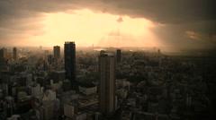 Sunlight over umeda .mp4 Stock Footage