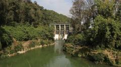 The dam on Phewa lake Stock Footage