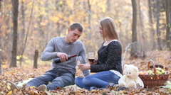 couple drinking wine - stock footage
