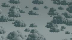 Cartoon flying rain clouds on a cloudy sky Stock Footage
