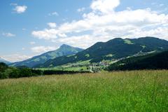 Stock Photo of Mountain landscape in the Wilder Kaiser region of Austria
