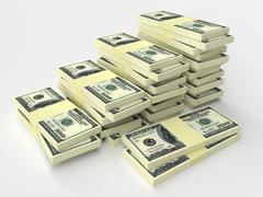 Stock Illustration of Stacks of money