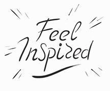 Feel inspired scribble handwritten design element - stock illustration