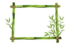 Bamboo frame for your message Piirros
