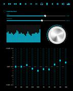 Abstract music web elements - stock illustration
