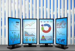 stock exchange statistics - stock illustration