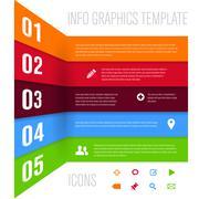 Stock Illustration of Modern design template for info graphics
