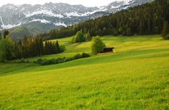 Wilder Kaiser mountains in the alps of Austria - stock photo