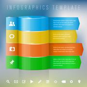 Modern design template for info graphics - stock illustration